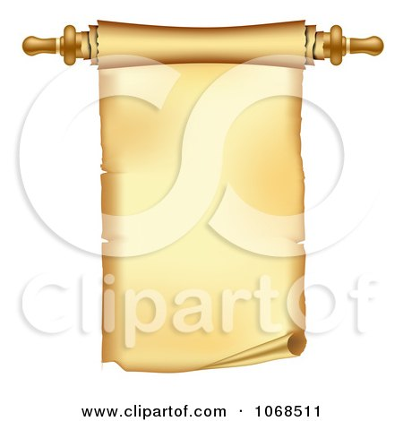 Clipart 3d Paper Scroll With Handle - Royalty Free Vector Illustration by vectorace