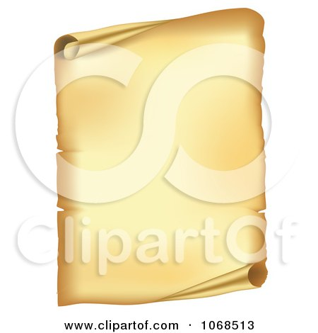 Clipart 3d Open Paper Scroll - Royalty Free Vector Illustration by vectorace