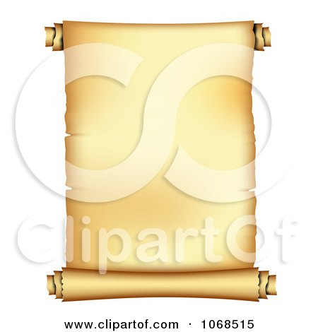 Clipart 3d Unrolled Paper Scroll - Royalty Free Vector Illustration by vectorace