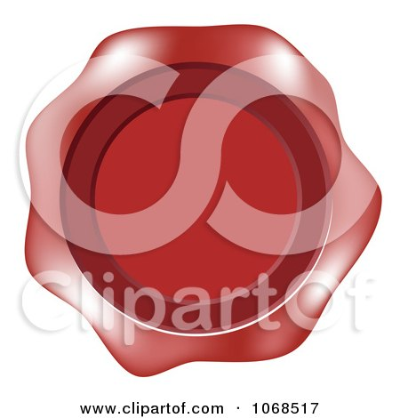 Clipart Red Wax Label - Royalty Free Vector Illustration by vectorace