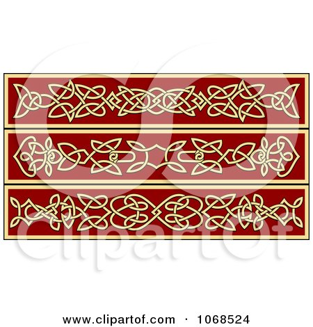 Clipart Irish Celtic Borders 3 - Royalty Free Vector Illustration by Vector Tradition SM