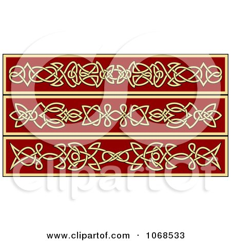 Clipart Irish Celtic Borders 4 - Royalty Free Vector Illustration by Vector Tradition SM