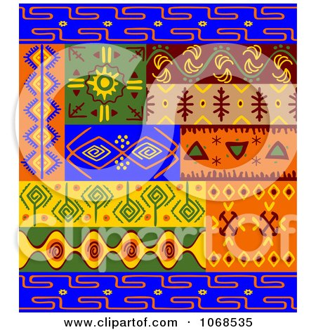 Clipart Ethnic Patterns Set 3 - Royalty Free Vector Illustration by Vector Tradition SM