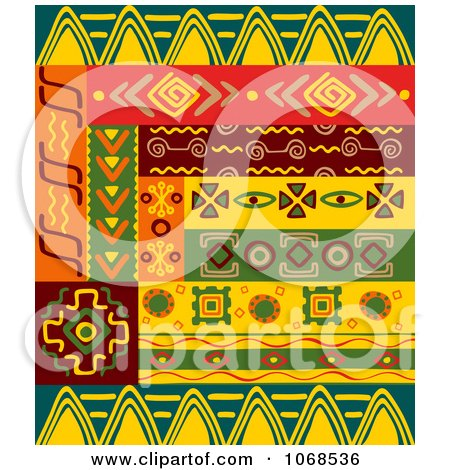 Clipart Ethnic Patterns Set 6 - Royalty Free Vector Illustration by Vector Tradition SM