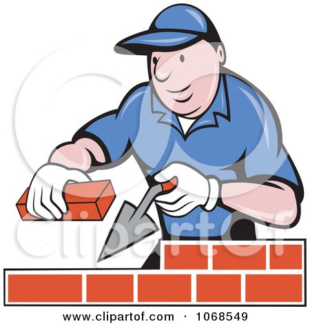 Royalty-Free (RF) Bricklayer Clipart, Illustrations, Vector ...