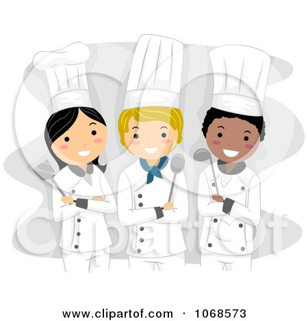 Cartoon Of A Cute Brunette Caucasian Baker Girl Holding