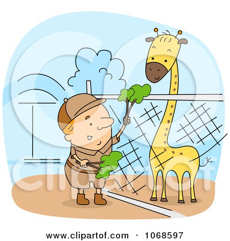 Zookeeper Feeding A Giraffe Posters, Art Prints by BNP Design ...