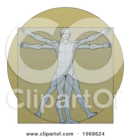 Royalty-Free (RF) Vitruvian Clipart, Illustrations, Vector Graphics #1