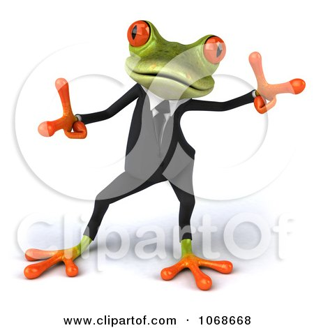 Clipart 3d Springer Frog Dancing In A Tux 2 - Royalty Free CGI Illustration by Julos