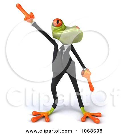 Clipart 3d Springer Frog Dancing In A Tux 1 - Royalty Free CGI Illustration by Julos