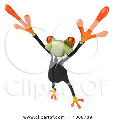Clipart 3d Springer Frog Dancing In A Tux 3 - Royalty Free CGI Illustration by Julos