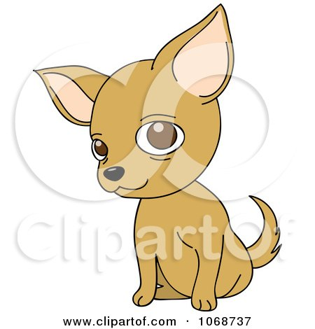 Clipart Chihuahua Sitting - Royalty Free Vector Illustration by Rosie Piter