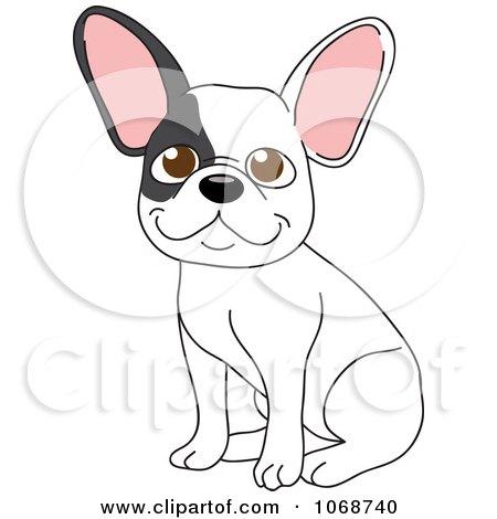 Clipart French Bulldog Sitting - Royalty Free Vector Illustration by Rosie Piter