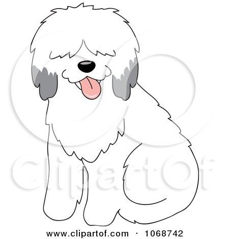 Clipart Sheepdog Sitting - Royalty Free Vector Illustration by Rosie Piter