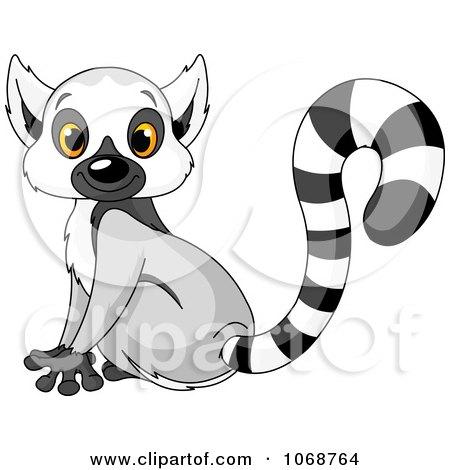 clipart cute baby zoo lemur royalty free vector Clip Art Black and White Lemur Clip Art Black and White Lemur