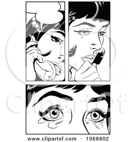 Royalty-Free (RF) Woman Crying Clipart, Illustrations, Vector ...