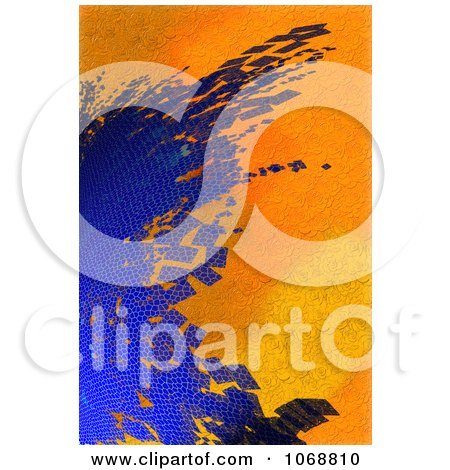 Clipart Abstract Blue And Orange Textured Background - Royalty Free CGI Illustration by chrisroll