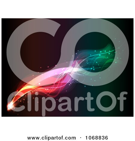 Clipart Colorful Firework On Black - Royalty Free Vector Illustration by KJ Pargeter