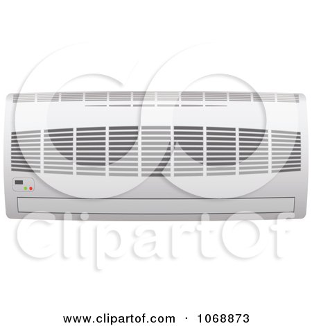 Clipart 3d Ductless Wall Air Conditioner Unit - Royalty Free Vector Illustration by michaeltravers