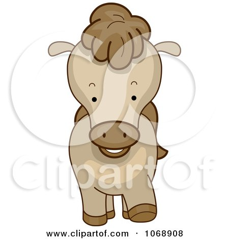 Clipart Cute Pony From The Front - Royalty Free Vector Illustration by BNP Design Studio