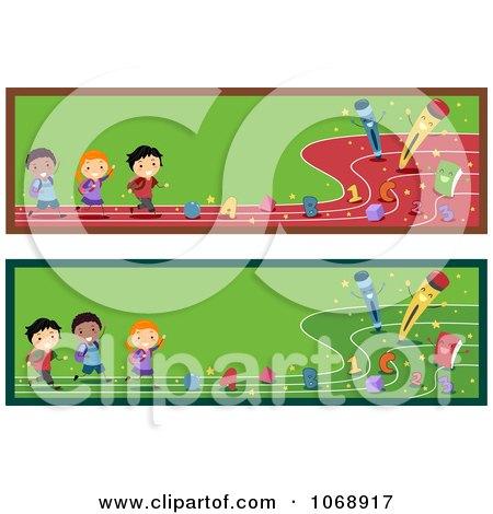 Clipart Preschool Kids Website Banners - Royalty Free Vector Illustration by BNP Design Studio