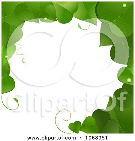 Clipart Green Vine Border Frame - Royalty Free Vector Illustration by elaineitalia
