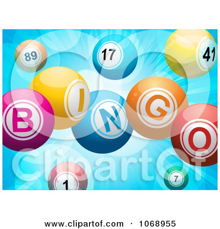 Clipart 3d Bingo Balls - Royalty Free Vector Illustration by elaineitalia