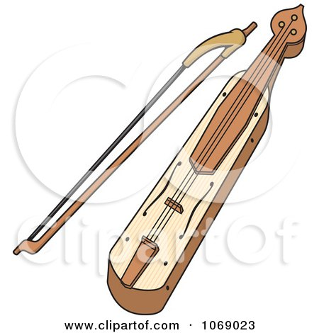 Clipart Kemenche Instrument - Royalty Free Vector Illustration by Any Vector