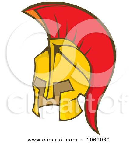 Greek Spartan Soldier Helmet Posters, Art Prints by Any Vector ...