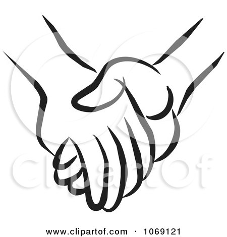 Clipart Pair Of Holding Hands - Royalty Free Vector Illustration by Johnny Sajem #1069121