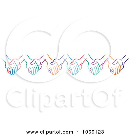 Clipart Pair Of Holding Hands - Royalty Free Vector Illustration ...