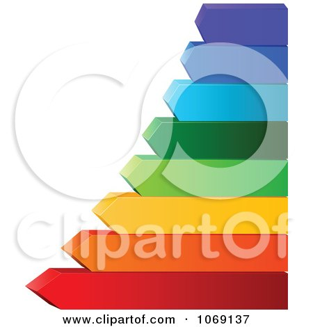 Clipart Colorful Arrow Energy Rating Chart - Royalty Free Vector Illustration by Pushkin