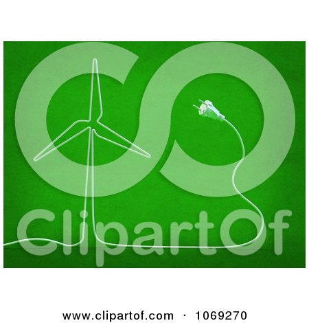 Clipart 3d Electric Cable Forming A Windmill - Royalty Free CGI Illustration by Mopic