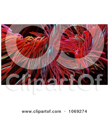 Clipart 3d Red Abstract Fiber Background 2 - Royalty Free CGI Illustration by Mopic