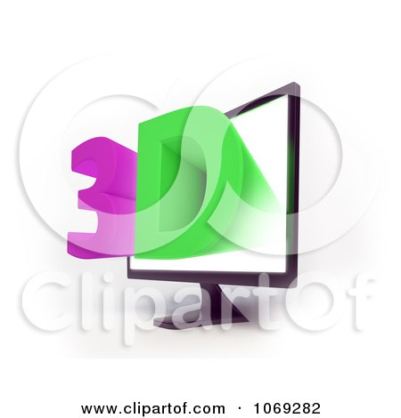 Clipart 3d Television Screen 2 - Royalty Free CGI Illustration by Mopic