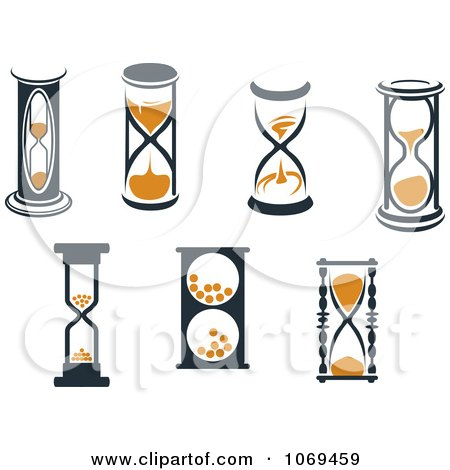 Clipart Hourglasses 3 - Royalty Free Vector Illustration by Vector Tradition SM