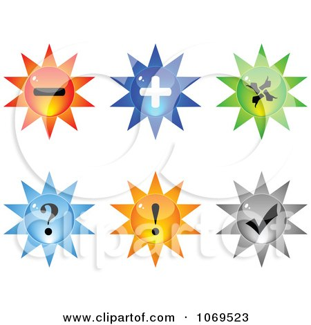 Clipart 3d Burst Website Buttons 1 - Royalty Free Vector Illustration by Andrei Marincas