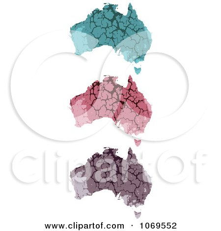 Clipart Russian Stone Maps - Royalty Free Vector Illustration by Andrei Marincas