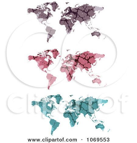 Clipart Stone World Maps - Royalty Free Vector Illustration by Andrei Marincas