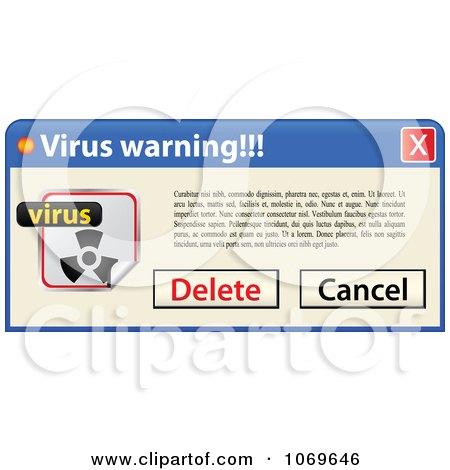Clipart Virus Warning Computer Popup 2 - Royalty Free Vector Illustration by Andrei Marincas