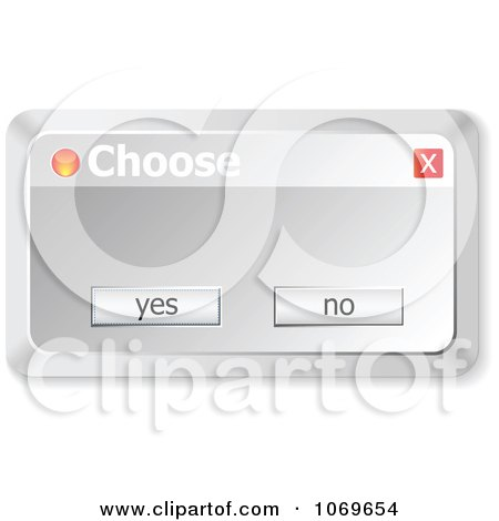 Clipart Choose Computer Popup - Royalty Free Vector Illustration by Andrei Marincas