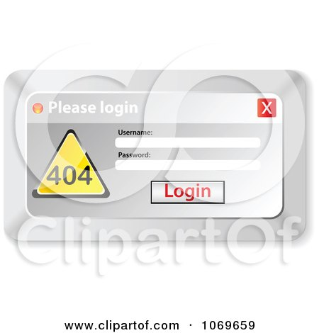 Clipart Please Login Computer Popup 1 - Royalty Free Vector Illustration by Andrei Marincas