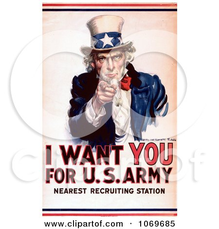 I Want You Uncle Sam Clip Art – Cliparts