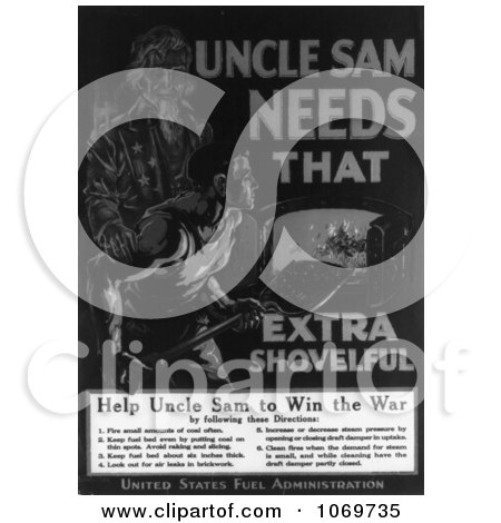 Uncle Sam Clipart Black And White Clipart of Uncle Sam Needs That Extra Shovelful Help Win The War Royalty