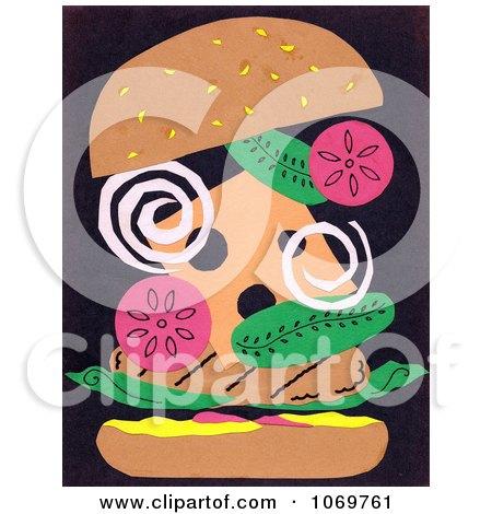 Clipart Abstract Hamburger - Royalty Free Illustration by LoopyLand