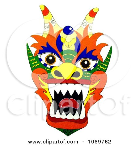 Clipart Colorful Chinese Dragon - Royalty Free Illustration by LoopyLand