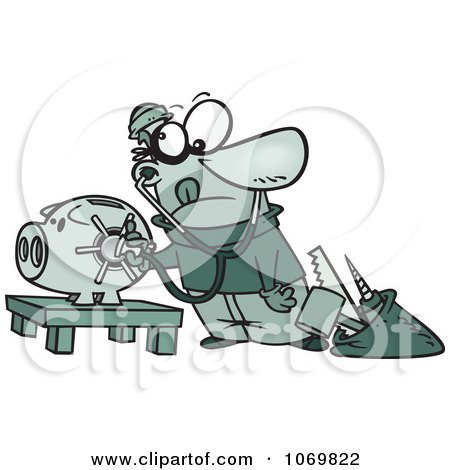 Robber Unlocking A Piggy Bank Vault Posters, Art Prints