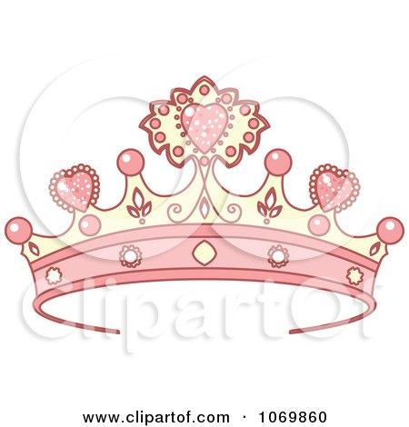 Clipart Pink Tiara - Royalty Free Vector Illustration by Pushkin