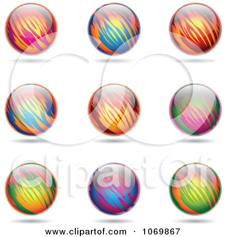 Clipart Colorful Sphere Logos 1 - Royalty Free Vector Illustration by cidepix