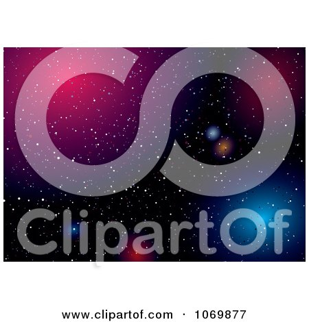 Clipart Colorful Outer Space Background - Royalty Free Vector Illustration by michaeltravers